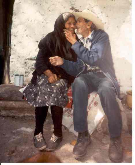 Chon y Benita, en foto del recuerdo
