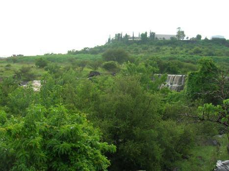 Cascadas efímeras tras de un aguacero y abajo, un rincón boscoso de los  pocos que se ven, en la zona