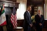 Presidentes Barack Obama y Felipe Calderón. De la red