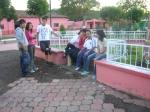 Gente de Ziquítaro, agosto 2008. Plaza en reparación, un acercamiento con los  jóvenes ziquitarrenses, en su plaza