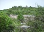 La Piedad. Efímera cascada, en julio, en la presa Cinco de Oros